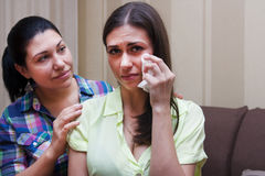 The younger sister was crying Royalty Free Stock Images
