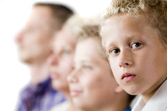 Youngest son in focus Stock Photos