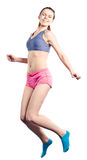 Youngl girl in a jump Royalty Free Stock Image