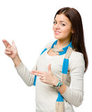 Youngster hand guns gesturing Royalty Free Stock Photos