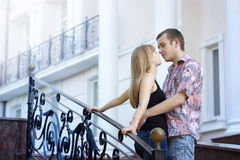 Youngsters love date Royalty Free Stock Photo