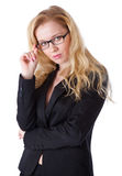 Youngwoman in a business suit Stock Image