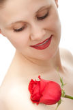 Younhg woman with rose Royalty Free Stock Photography