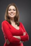 Younng kvinnaslut upp ståenden Fotografering för Bildbyråer