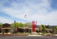 Yountville Community Center, Napa Valley. YOUNTVILLE, CA - APRIL 16: Yountville Community Center on April 16, 2014. Town of Yountville noted destination for stock image