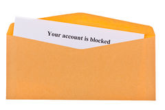 Your account is blocked Royalty Free Stock Image