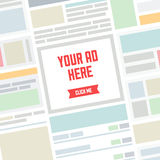 Your AD here flat illustration Stock Photo