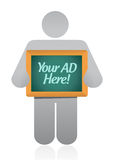 Your ad here sign illustration design Stock Photo