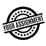 Your Assignment rubber stamp Royalty Free Stock Images