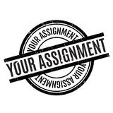 Your Assignment rubber stamp Royalty Free Stock Image