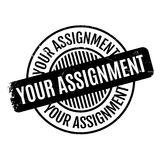 Your Assignment rubber stamp Stock Image