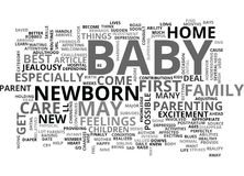 When Your Baby Arrives Word Cloud Stock Images