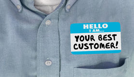 Free Your Best Customer Hello Name Tag Loyal Client Royalty Free Stock Photo - 79889355