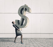 Your big interest rate . Mixed media Royalty Free Stock Photography