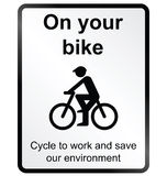 On your Bike Information Sign Royalty Free Stock Images