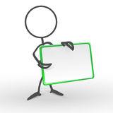 Your board. Illustration of a man with a blank advertising board Royalty Free Stock Photography