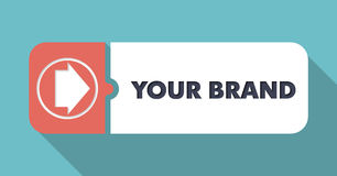 Your Brand Concept in Flat Design. Royalty Free Stock Photo