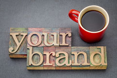 Your brand word abstract Royalty Free Stock Image