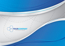 for your business blue background design royalty free illustration