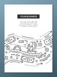 Your Business - line design brochure poster template A4 Royalty Free Stock Image
