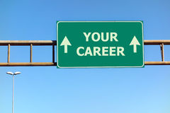 Your Career Sign Highway Success Royalty Free Stock Photo