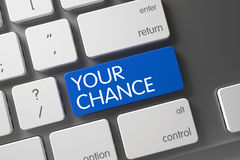 Your Chance CloseUp of Keyboard. 3D. Royalty Free Stock Image