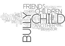 Is Your Child A Bully Text Background  Word Cloud Concept Stock Images