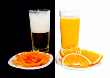 Your choice: beer or juice Royalty Free Stock Image