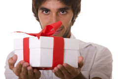 Your christmas present! Stock Photos