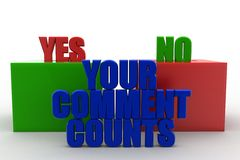 Your Comment Counts words concept Stock Photo