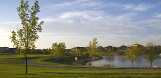 Your Community: A beautiful suburban neighbourhood. Beautiful Master Planned Suburban Community with sustainable and active lifestyle features Stock Photography