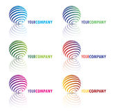 Your company logo. Design of logo with different color gradients, little shadow and reflection. With editable .EPS vector file Royalty Free Stock Photos