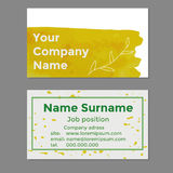 Your company name business cards Stock Image