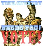 Your country needs you. Sign to remind people to go and vote royalty free illustration