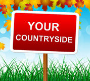 Your Countryside Indicates Landscape Owned And Meadows Stock Photos