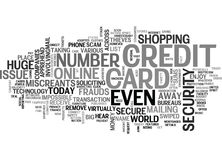 Is Your Credit Card Secure Text Background  Word Cloud Concept Royalty Free Stock Photos