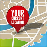 Your current location. Pointer vector Royalty Free Stock Photography