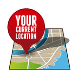 Your current location pointer. Vector Royalty Free Stock Photos