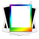 For your design. Blank of picture borders  and polaroids  / blank of picture borders  for your design Stock Image