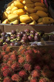 For your dessert, some asian fruits. Fruits at the Chinese Market Royalty Free Stock Images