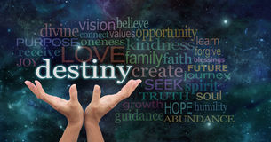 Your Destiny is in Your Hands Royalty Free Stock Image