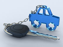 Your dream car. The key of a gift car. Your dream car Stock Photography