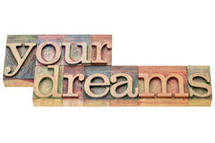 Your dreams word abstract Stock Image