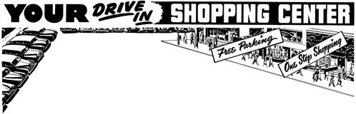 Your Drive In Shopping Center Stock Images