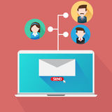Your Email Marketing Team. Team Email Marketing Online for business Royalty Free Stock Image