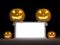 Your empty board for halloween Stock Photos