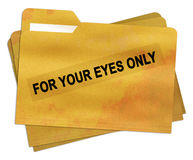 For your eyes only file folder Royalty Free Stock Image