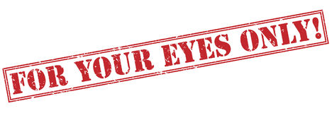 For your eyes only! red stamp. On white background Stock Images