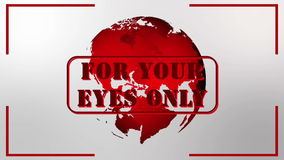 For your eyes only stock video footage