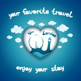 Your favorite travel Royalty Free Stock Images